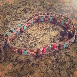 Authentic Native American handmade wrap bracelet!!